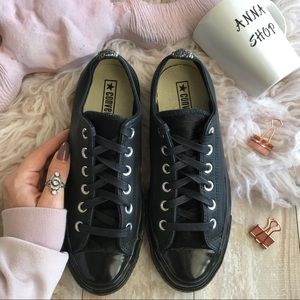 NWT Converse ID Leather low Tops Black